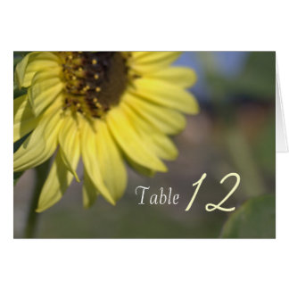 Elegant, bright summer yellow sunflower thank you note card