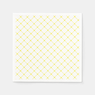 Elegant Bright Yellow Trellis Pattern Disposable Napkin