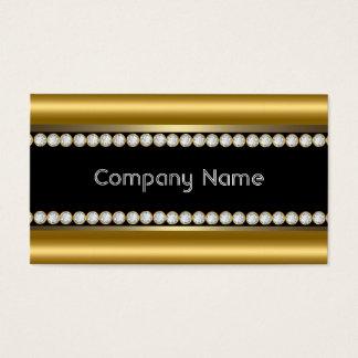 Elegant Bronze Gold Black Diamond Trim Business Card
