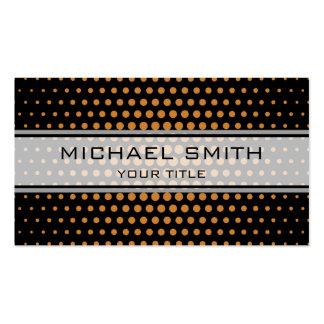 Elegant Bronze Polka Dot Pattern Pack Of Standard Business Cards