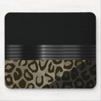 Elegant Brown Black Cheetah Mouse Mat