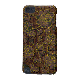 Elegant brown Flower Design iPod Touch (5th Generation) Covers