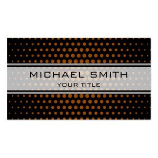 Elegant Brown Polka Dot Pattern Pack Of Standard Business Cards