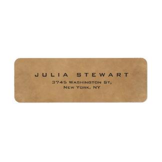 Elegant Brown Professional Modern Personal Return Address Label