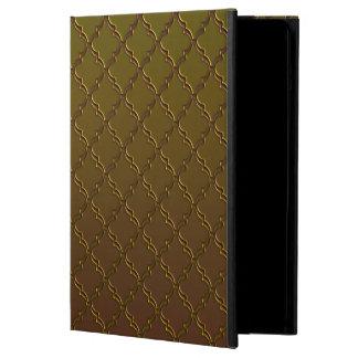 Elegant Brown Quatrefoil Pattern Case
