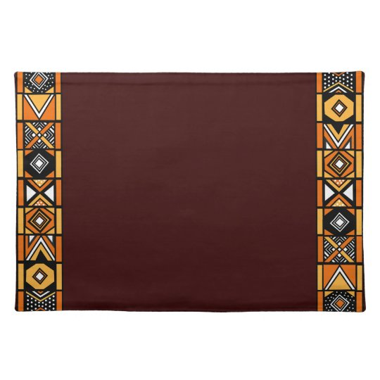 Elegant Brown Safari African Art Placemat
