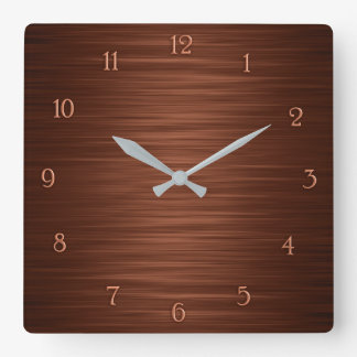 Elegant brown shaded wall clock