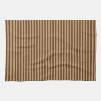Elegant Brown Stripes Tea Towel