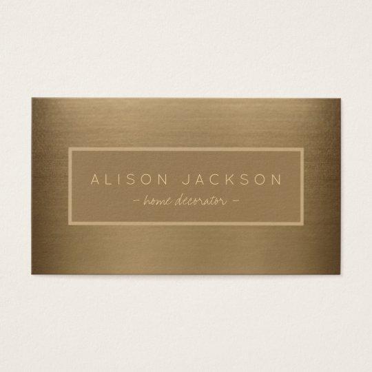 Elegant brushed copper metallic look professional business card
