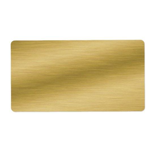 Elegant Brushed Gold Look Shipping Label
