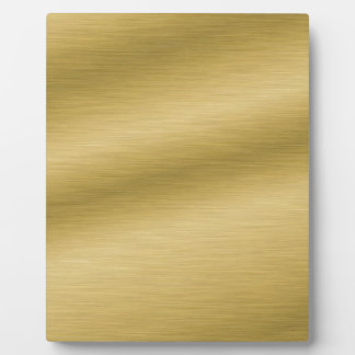 Elegant Brushed Gold Plaque