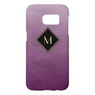 Elegant Brushed Purple With Sophisticated Monogram
