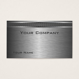Elegant Brushed Silver Corporate  Business Card