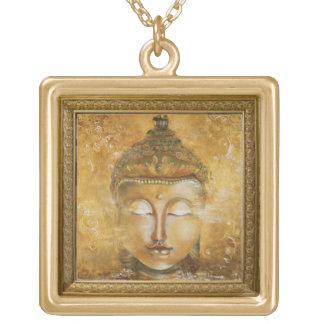elegant buddha gold plated necklace