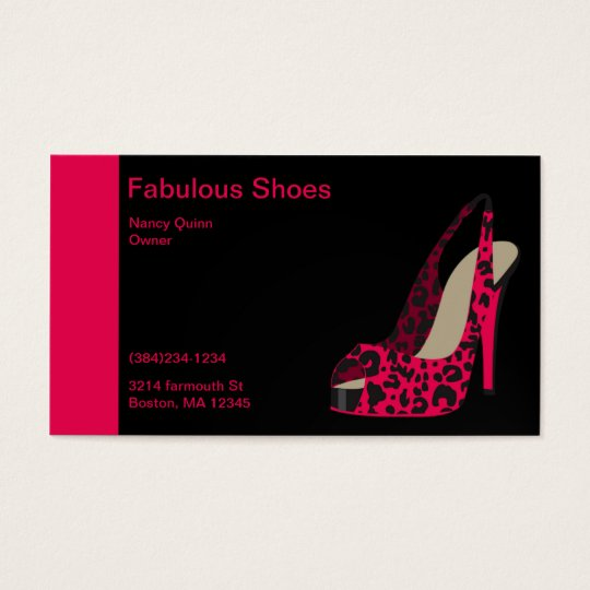 Elegant Business Card for Women's Shoe Store