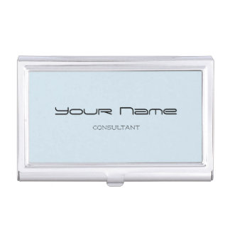 Elegant Business Card Holder (Blue)