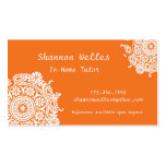 Elegant Business Card in Orange and White