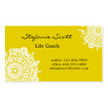 Elegant Business Card in Yellow and White