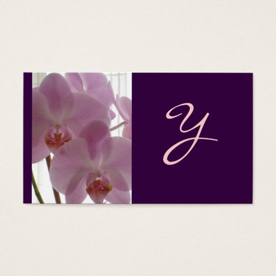 Elegant Business Cards: Orchid Business Card