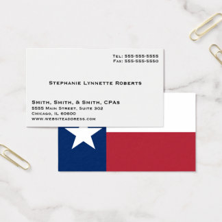 Elegant Business with Texas Flag Business Card