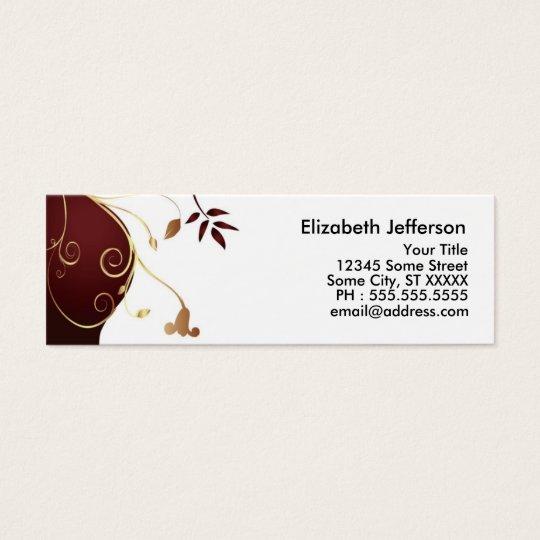 Elegant Businesscard Mini Business Card