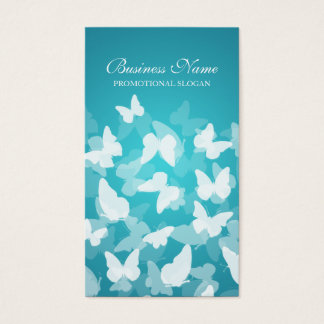 Elegant Butterflies Blue Professional Business Card