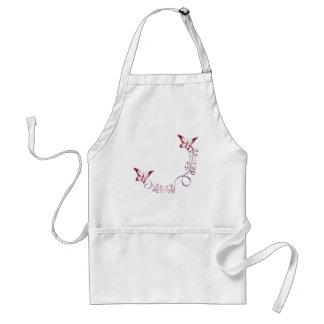 elegant butterflies standard apron