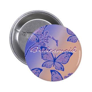 Elegant butterflies template - customizable badge buttons