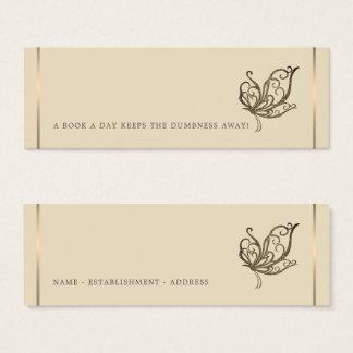 Elegant Butterfly Bookmark Mini Business Card