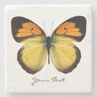 Elegant Butterfly Custom Stone Coaster