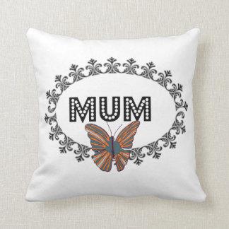 Elegant Butterfly Mum Cushion