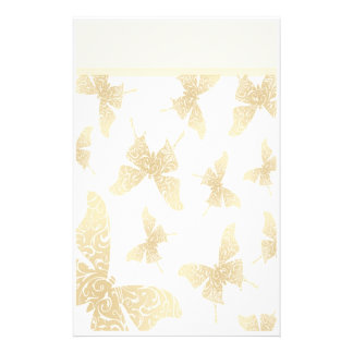 Elegant Butterfly Stationery with Letterhead