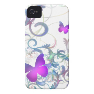 Elegant Butterfly Swirl iPhone 4 Case-Mate Case