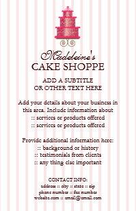 cake business flyers zazzle co uk