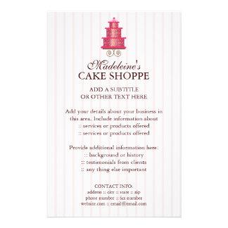 Elegant Cake Custom Bakery Business Flyer