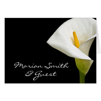 Elegant Cala Lily  - Placecard Stationery Note Card