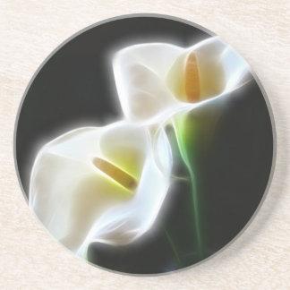 Elegant Calla Lily Flowers 13 Modern Beverage Coaster
