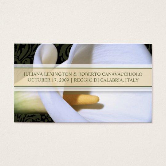 Elegant Calla Lily Wedding Website Profile Card