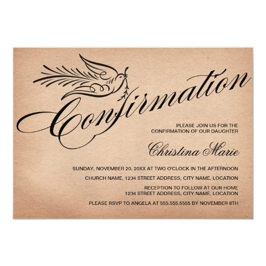 Elegant Calligraphy Confirmation Card