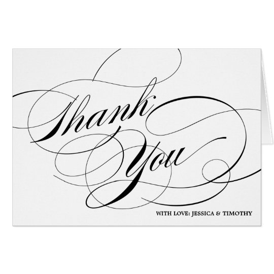 Elegant Calligraphy Script Thank You Card