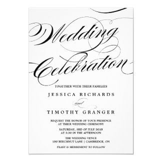 Shop Zazzle's selection of elegant wedding invitations for your special day!