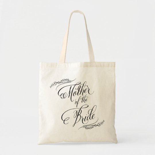Elegant Calligraphy Wedding Mother of the Bride Tote