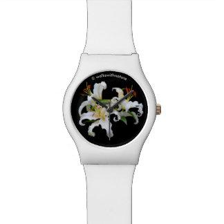 Elegant Casablanca White Oriental Lilies Watch