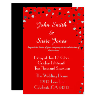 Elegant casino themed invitation