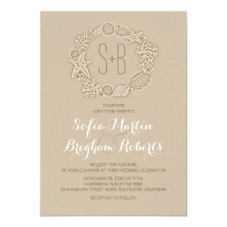 Elegant casual beach wedding invitations