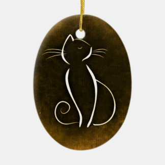Elegant Cat, Snooty Cat Christmas Ornament