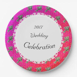 Elegant-Celebration-Silver-Roses-Multi(c)TEMPLATE Paper Plate