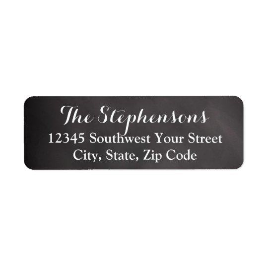 Elegant Chalkboard Address Label