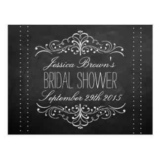 Elegant Chalkboard Bridal Shower Recipe Cards