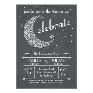 Elegant Chalkboard Moon Celebration Card
